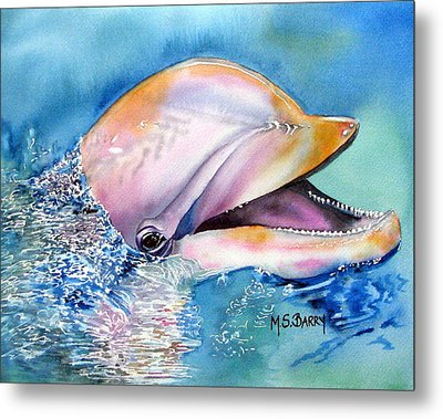 Dolphin Metal Print by Maria Barry