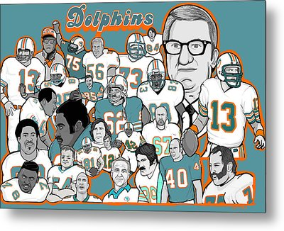 Dolphins Ring Of Honor Metal Print by Gary Niles
