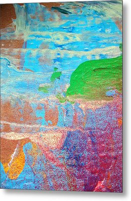 Dolphins Should Not Die Green Metal Print by Bruce Combs - REACH BEYOND