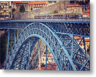 Dom Luis Bridge Porto  Metal Print