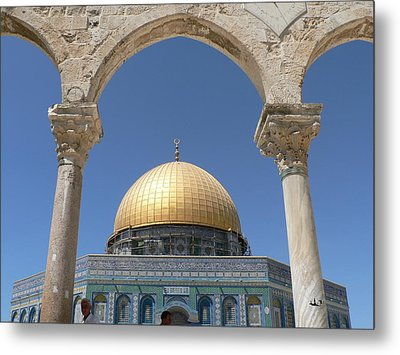 Dome Of The Rock Metal Print by James Lukashenko