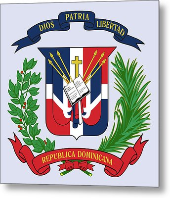 Dominican Republic Coat Of Arms Metal Print by Movie Poster Prints
