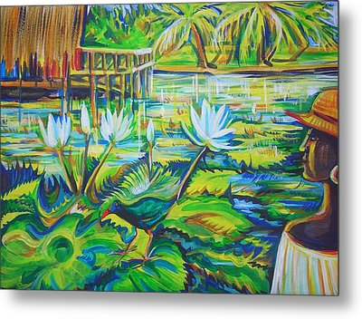 Metal Print featuring the painting Dominicana by Anna  Duyunova