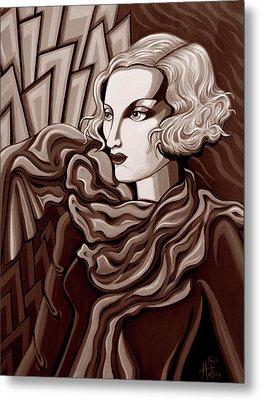 Dominique In Sepia Tone Metal Print by Tara Hutton