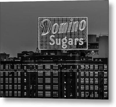 Domino Sugars Sign Metal Print by Wayne King