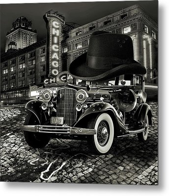 Don Cadillacchio Black And White Metal Print by Marian Voicu