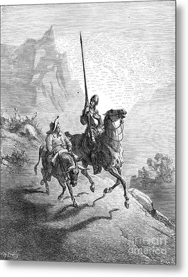 Don Quixote And Sancho Metal Print by Granger