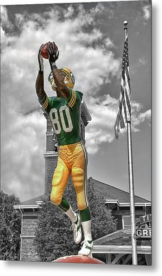 Metal Print featuring the photograph Donald Driver Statue by Joel Witmeyer