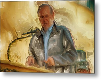Donald Rumsfeld Metal Print by Brian Reaves