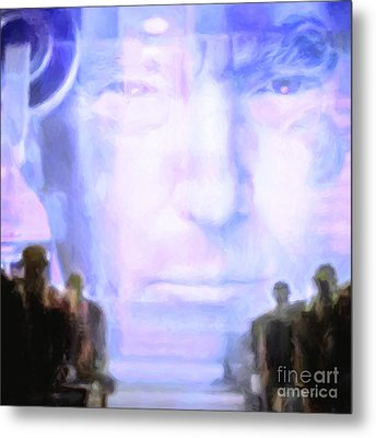 Metal Print featuring the photograph Donald Trump 1984 Square by Wingsdomain Art and Photography