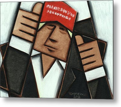 Donald Trump Red Hat Thumbs Up Art Print Metal Print by Tommervik