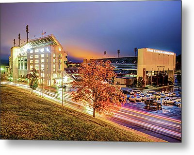 Donald W. Reynolds Stadium - Home Of The Arkansas Razorbacks College Football Team Metal Print by Gregory Ballos