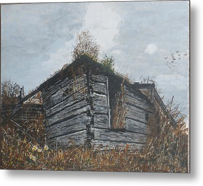 Metal Print featuring the painting Done Its Time... by Betty-Anne McDonald