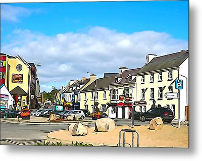 Donegal Town Metal Print by Charlie and Norma Brock