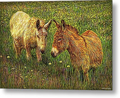 Donkey Confidential Metal Print by Joel Bruce Wallach