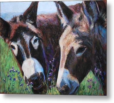 Donkey Tonk Metal Print by Billie Colson