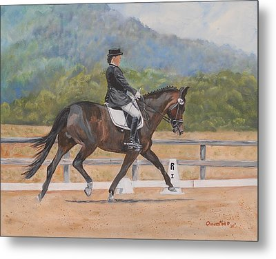 Metal Print featuring the painting Donnerlittchen by Quwatha Valentine