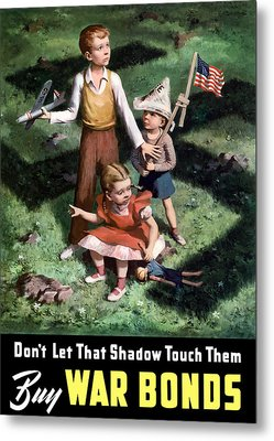 Don't Let That Shadow Touch Them Metal Print by War Is Hell Store
