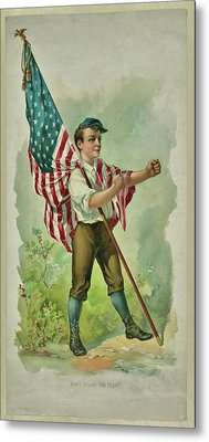 Don't Touch My Flag 1890 Metal Print