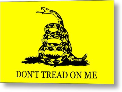 Don't Tread On Me Flag Metal Print by War Is Hell Store