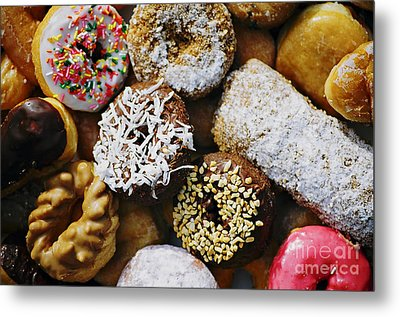 Metal Print featuring the photograph Donuts by Vivian Krug Cotton