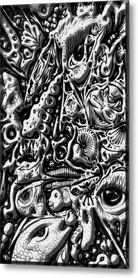 Metal Print featuring the digital art Doodle Emboss by Darren Cannell