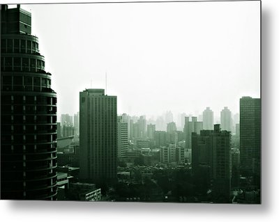 Doomsday Shanghai Metal Print by Christine Till