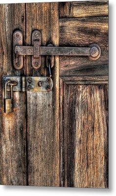 Door - The Latch Metal Print by Mike Savad