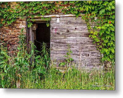 Metal Print featuring the photograph Door Ajar by Christopher Holmes