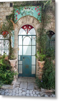 Door Entrance To The Art Metal Print by Yoel Koskas