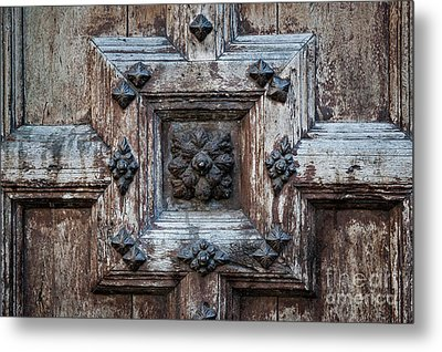Metal Print featuring the photograph Door Fragment Of The Church Of The Jacobins by Elena Elisseeva