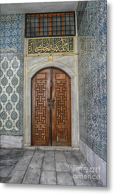 Door In Harem Istanbul Metal Print by Patricia Hofmeester