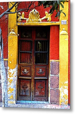 Door In The House Of Icons Metal Print by Mexicolors Art Photography