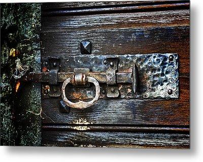 Door Latch Metal Print
