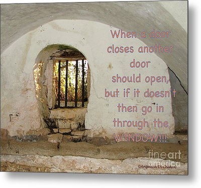 Door Or Window Metal Print