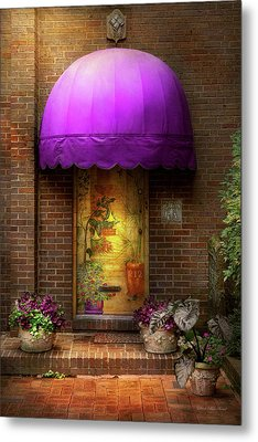 Door - The Door To Wonderland Metal Print by Mike Savad