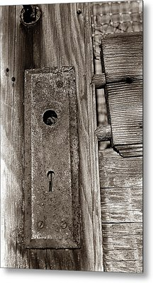 Metal Print featuring the photograph Door To Days Long Gone by Wanda Brandon