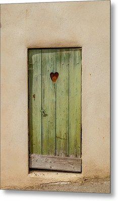 Door With Heart In Ancy Metal Print by W Chris Fooshee