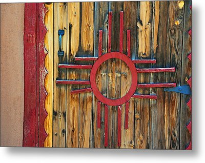 Door With Zia Metal Print