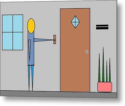 Doorbell Metal Print by Van Winslow