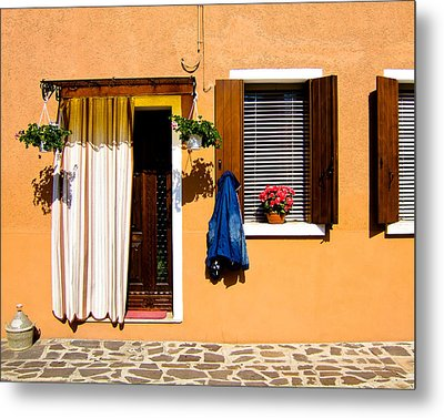 Doors And Windows IIi Burano Italy Metal Print by Carl Jackson