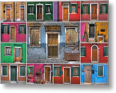 doors and windows of Burano - Venice Metal Print by Joana Kruse