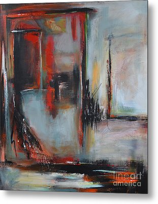 Metal Print featuring the painting Doors by Cher Devereaux