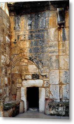 Doorway Church Of The Nativity Metal Print by Thomas R Fletcher