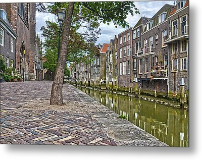 Dordrecht Behind The Church Metal Print