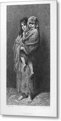 Dore: Homeless, C1869 Metal Print by Granger