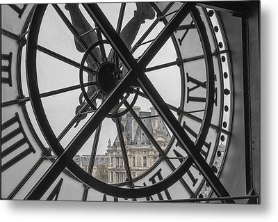 D'orsay Clock Paris Metal Print