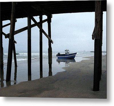 Dory Boat At Newport Beach Metal Print