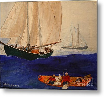 Dory Trawlers On Georges Bank Metal Print