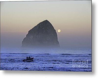 Dory Under A Blue Moon Metal Print by Tim Moore